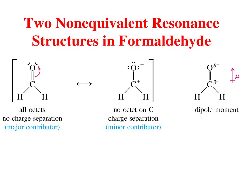 Two Nonequivalent Resonance Structures in Formaldehyde