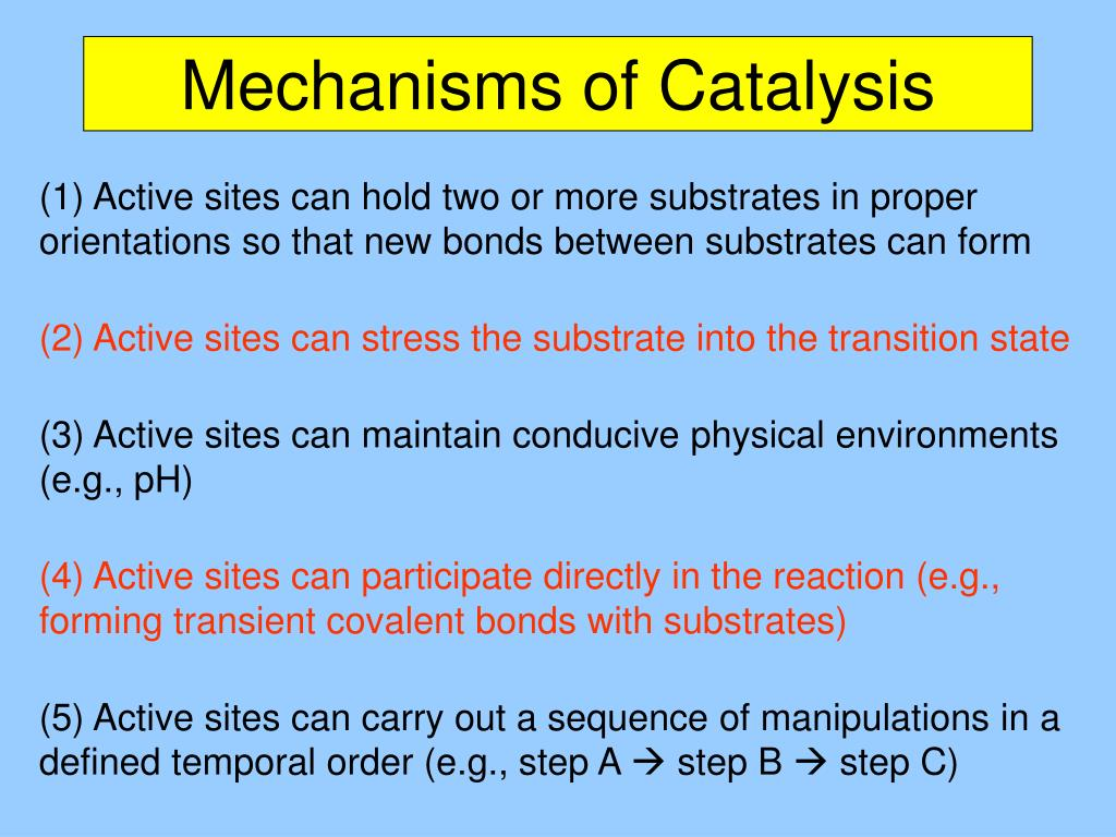 Mechanisms of Catalysis