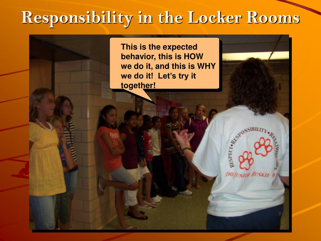 Responsibility in the Locker Rooms