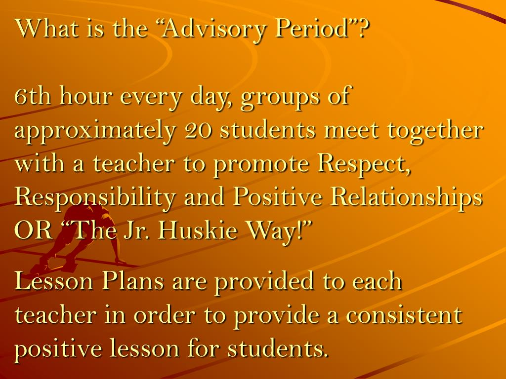 """What is the """"Advisory Period""""?"""