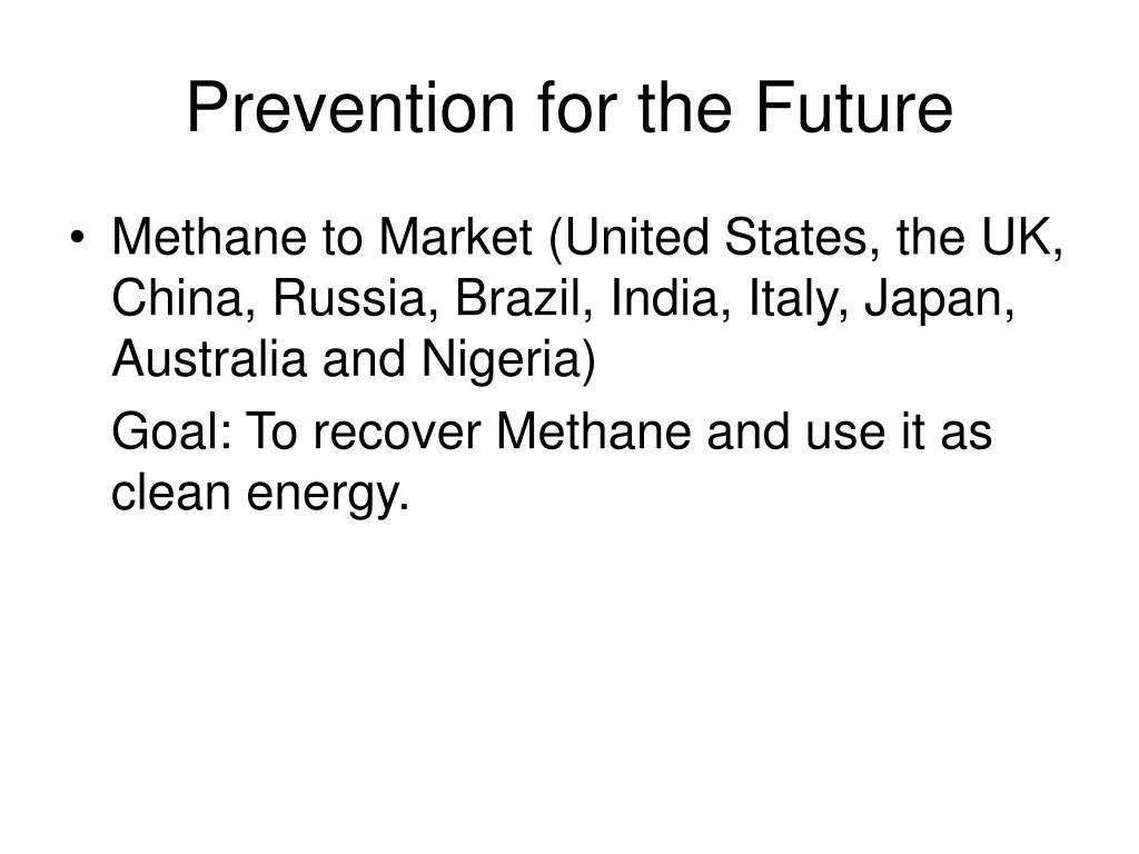 Prevention for the Future