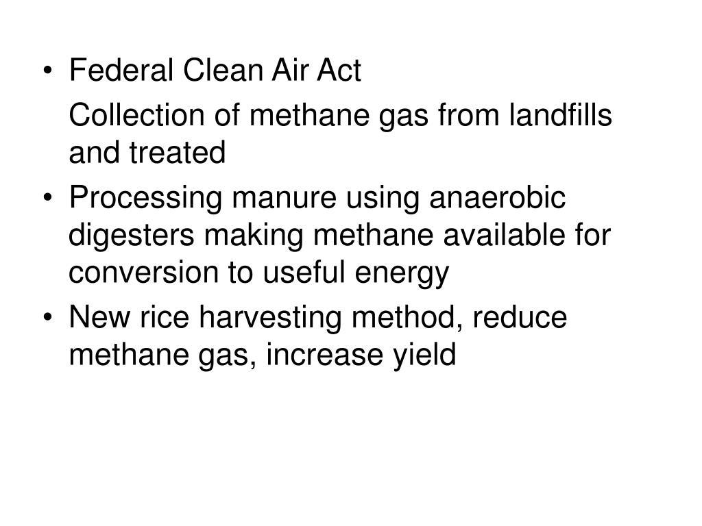 Federal Clean Air Act