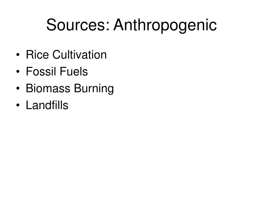 Sources: Anthropogenic