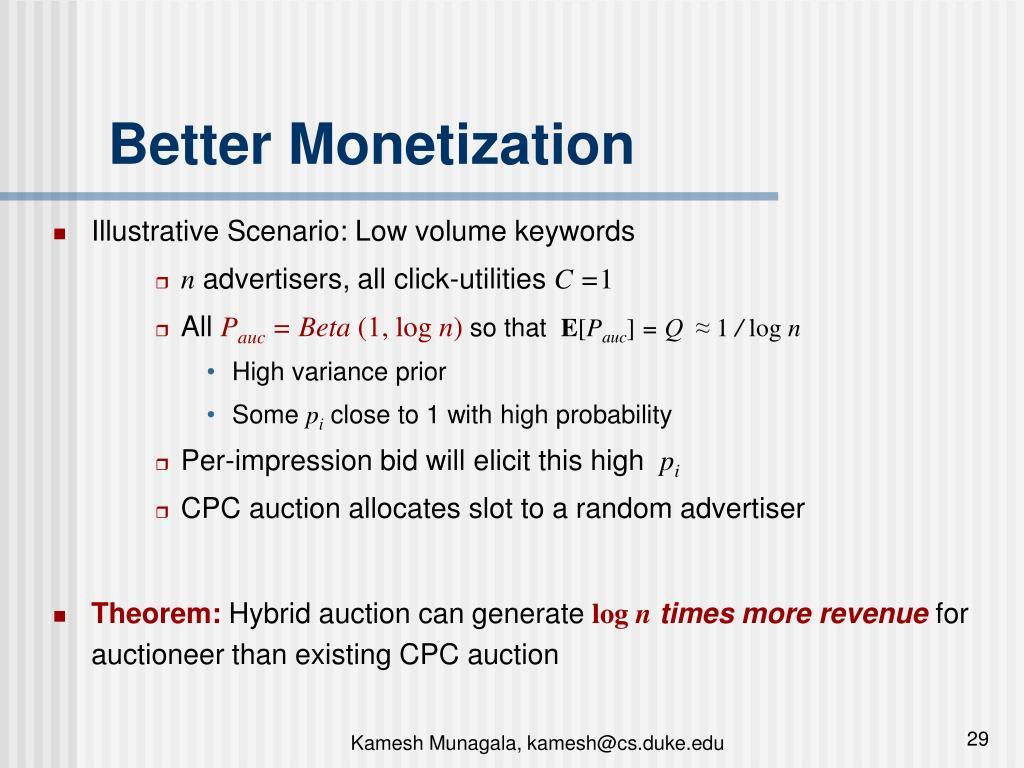Better Monetization