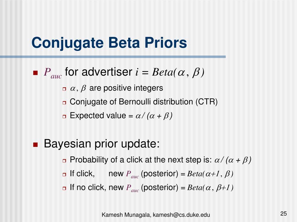 Conjugate Beta Priors
