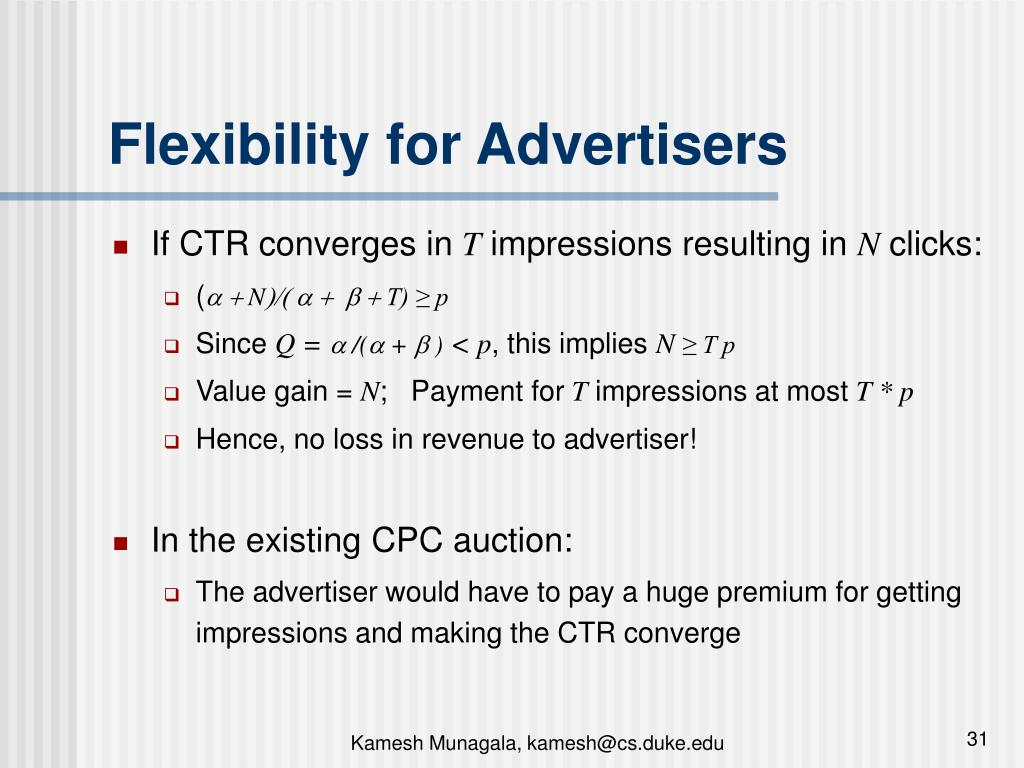 Flexibility for Advertisers