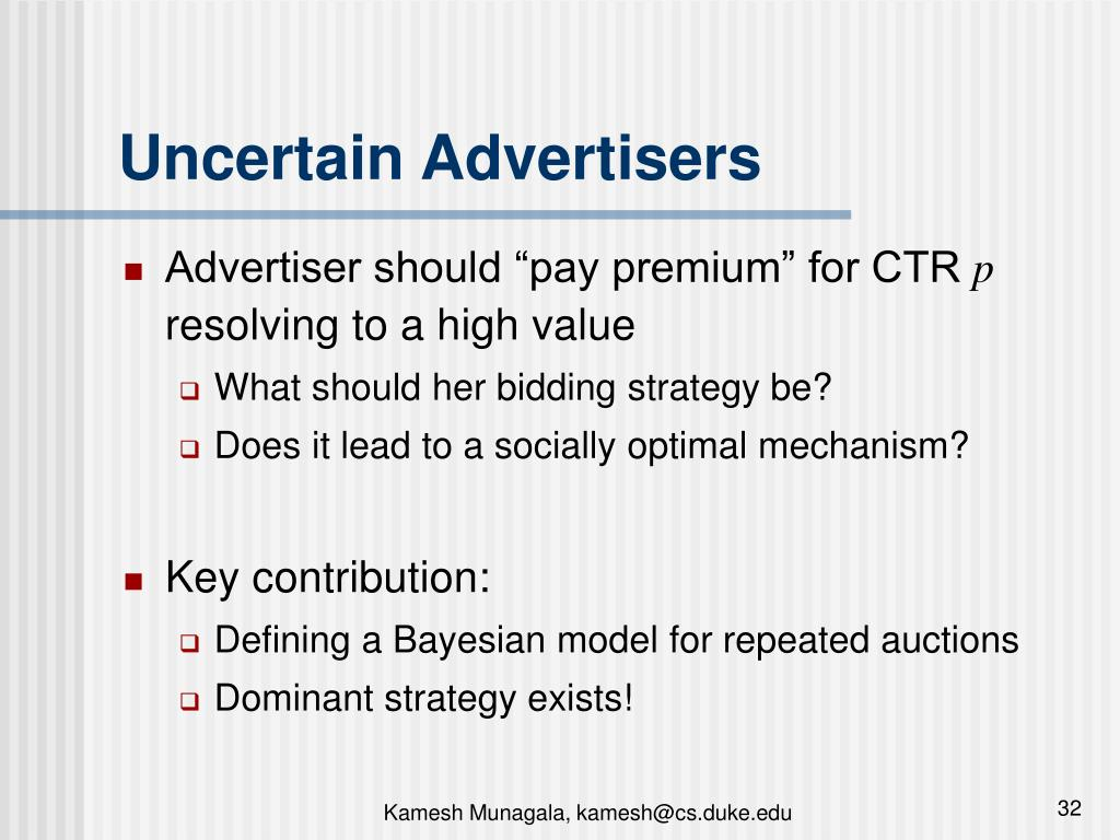 Uncertain Advertisers