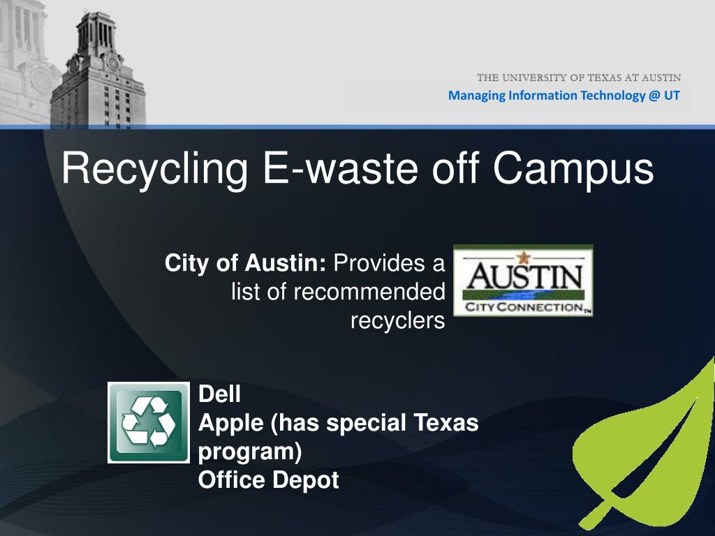 Recycling E-waste off Campus