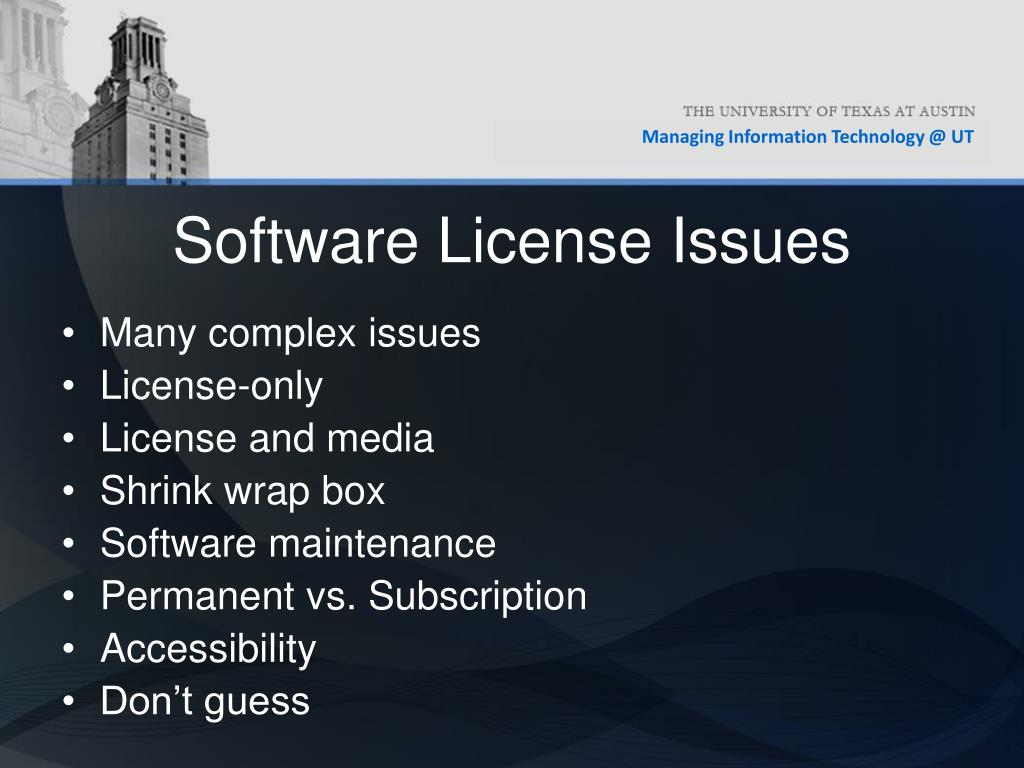 Software License Issues