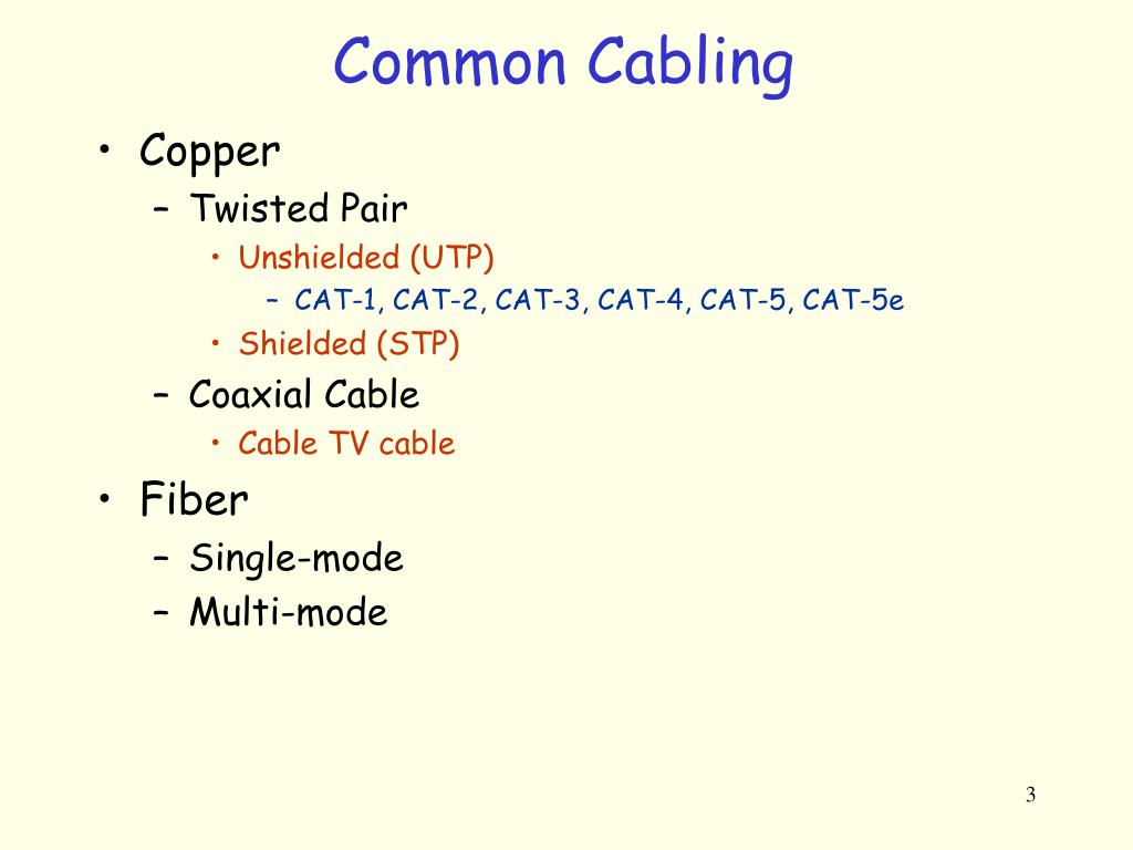Common Cabling