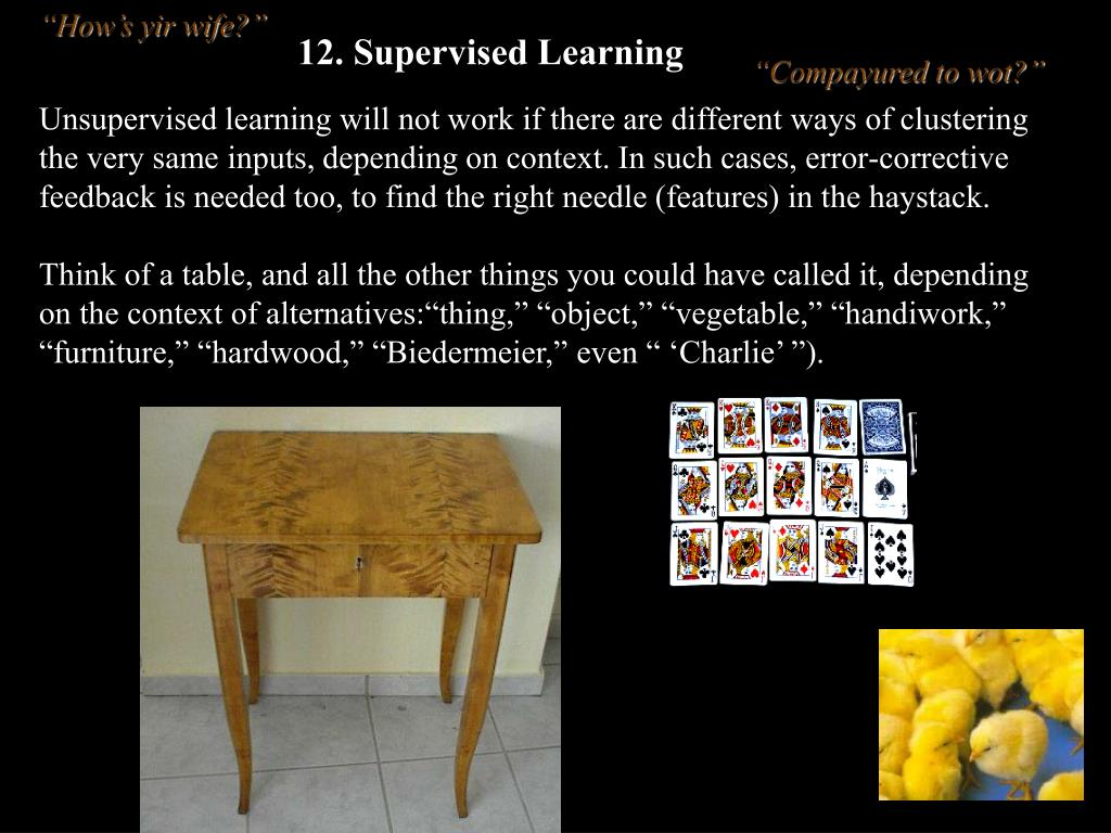 12. Supervised Learning