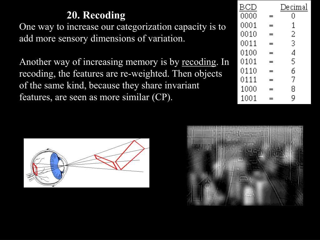 20. Recoding