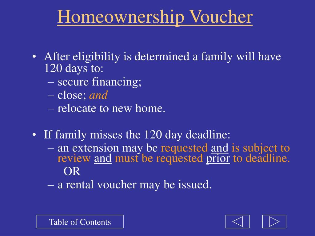 Homeownership Voucher