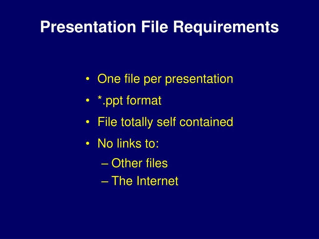 Presentation File Requirements