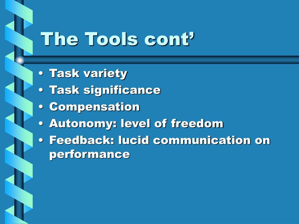 The Tools cont'