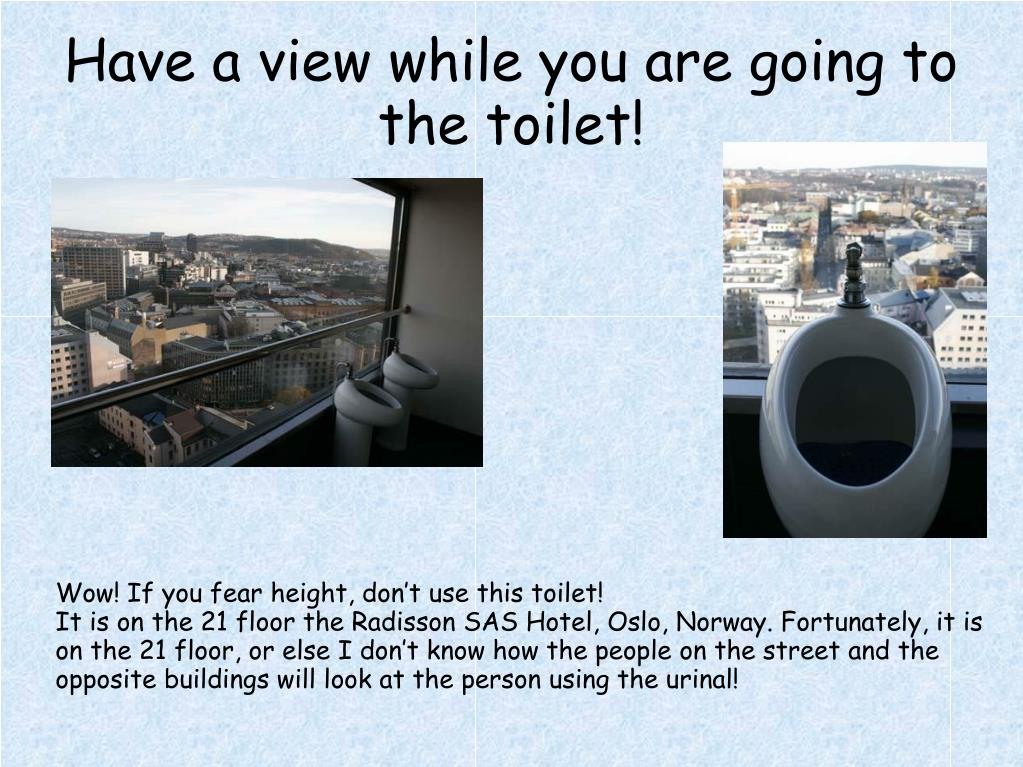 Have a view while you are going to the toilet!