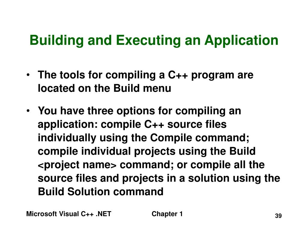 Building and Executing an Application
