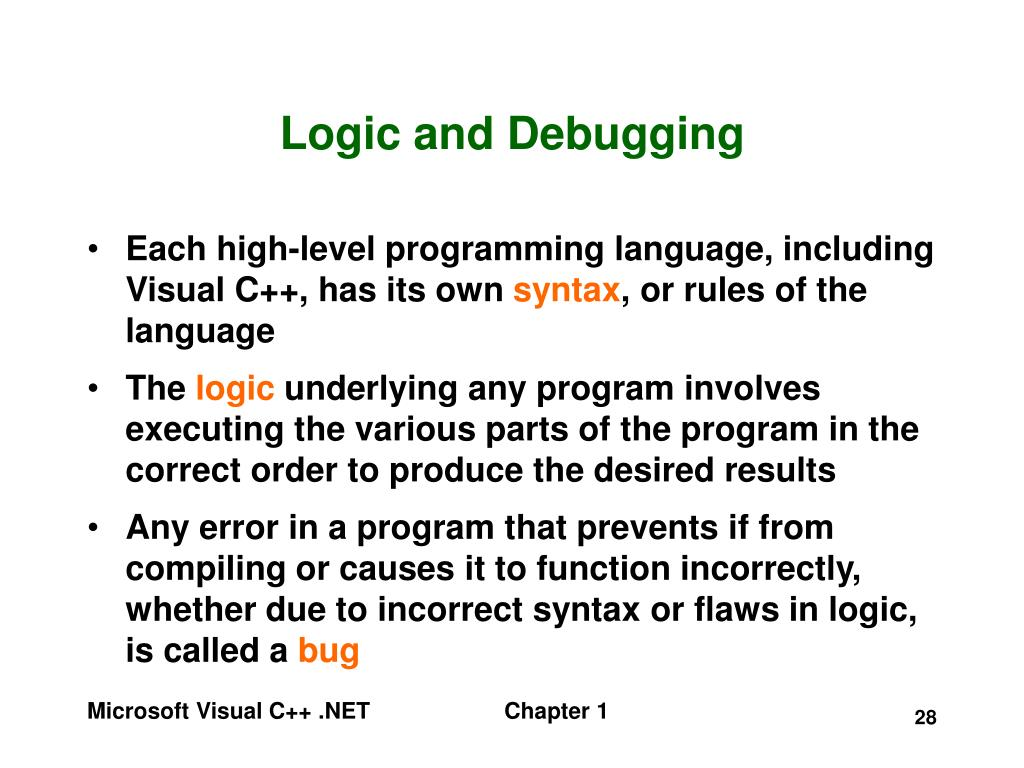 Logic and Debugging