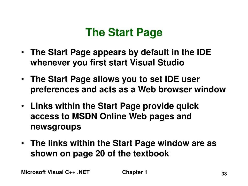 The Start Page