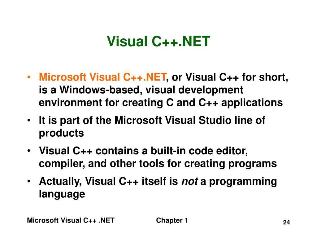 Visual C++.NET