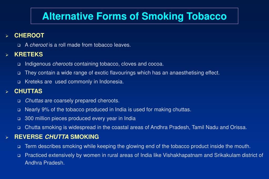 Alternative Forms of Smoking Tobacco