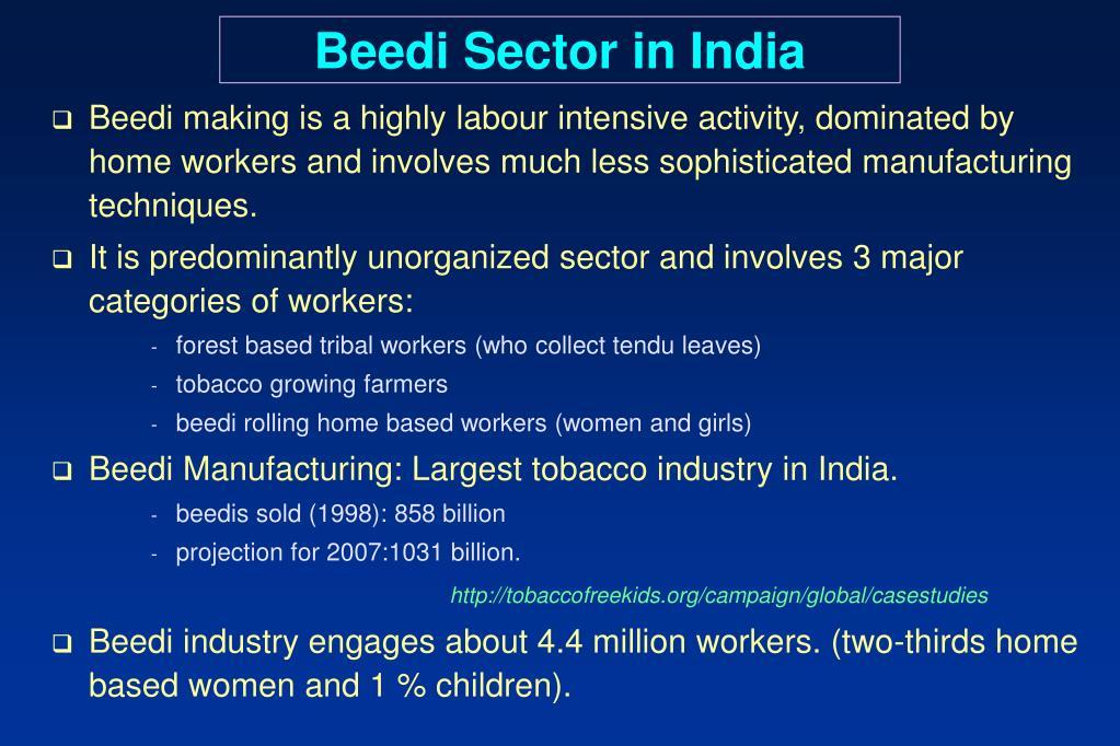 Beedi Sector in India