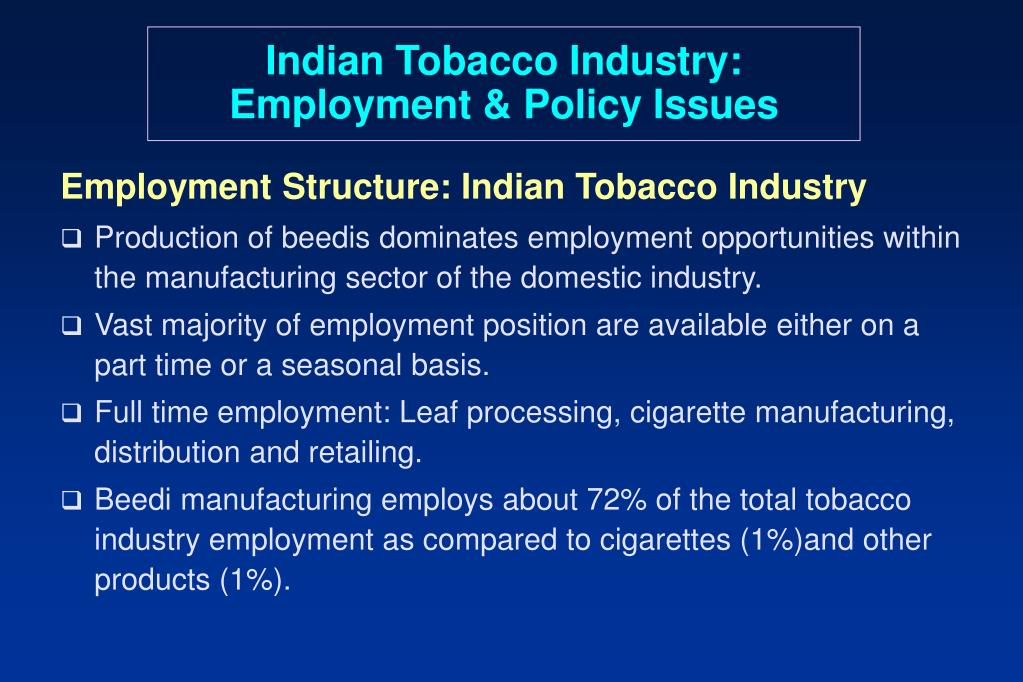 Indian Tobacco Industry: