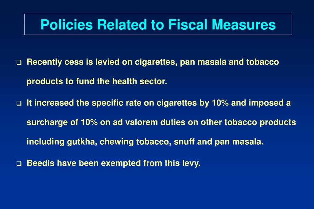 Policies Related to Fiscal Measures