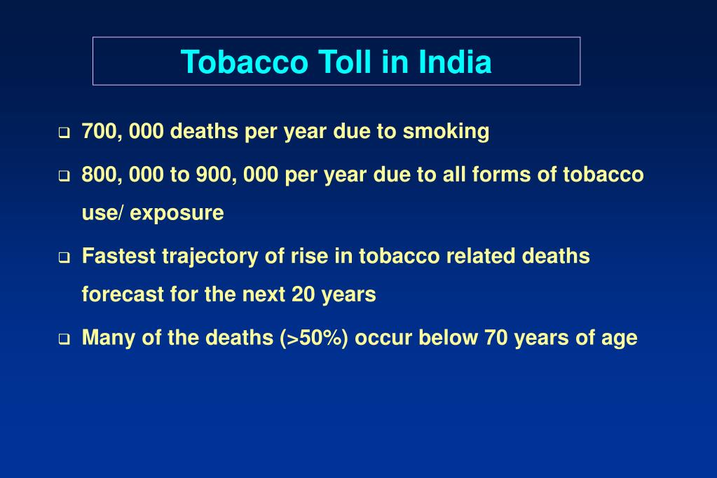 Tobacco Toll in India