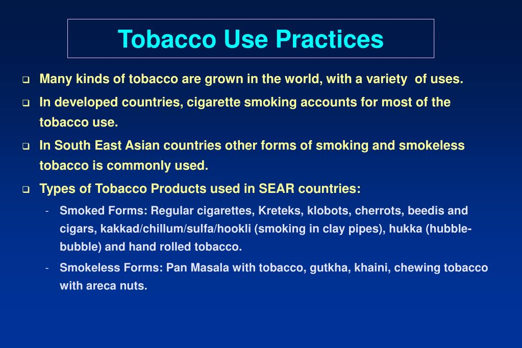 Tobacco Use Practices