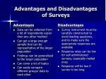 advantages and disadvantages of surveys
