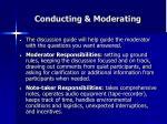 conducting moderating