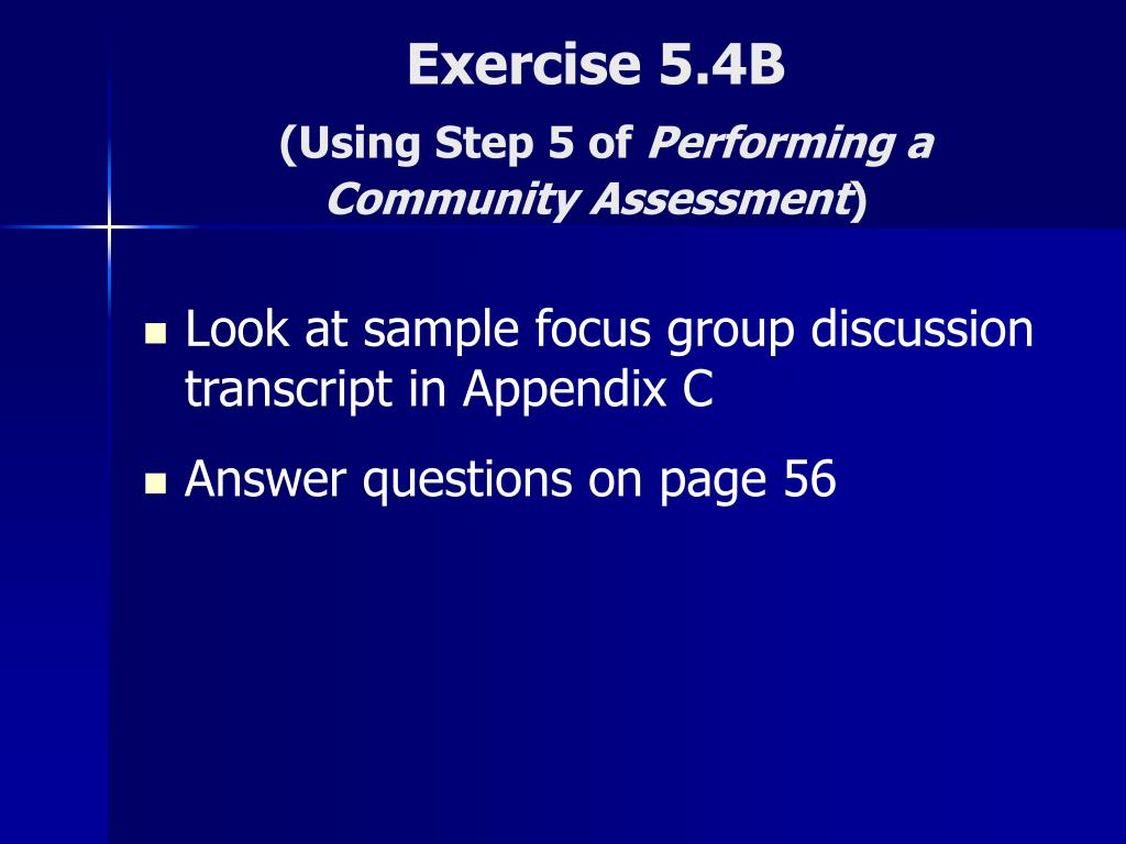 Exercise 5.4B