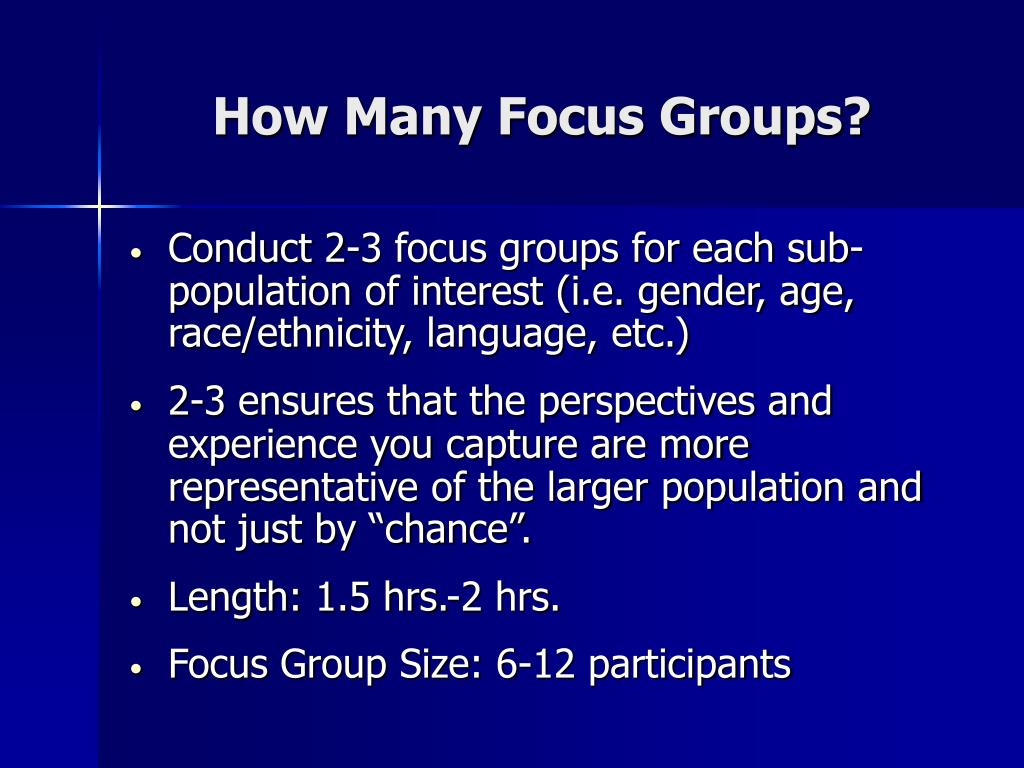 How Many Focus Groups?
