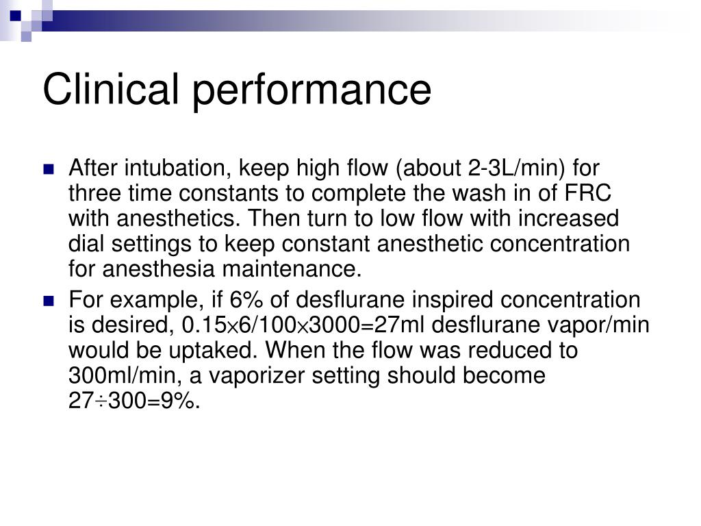Clinical performance