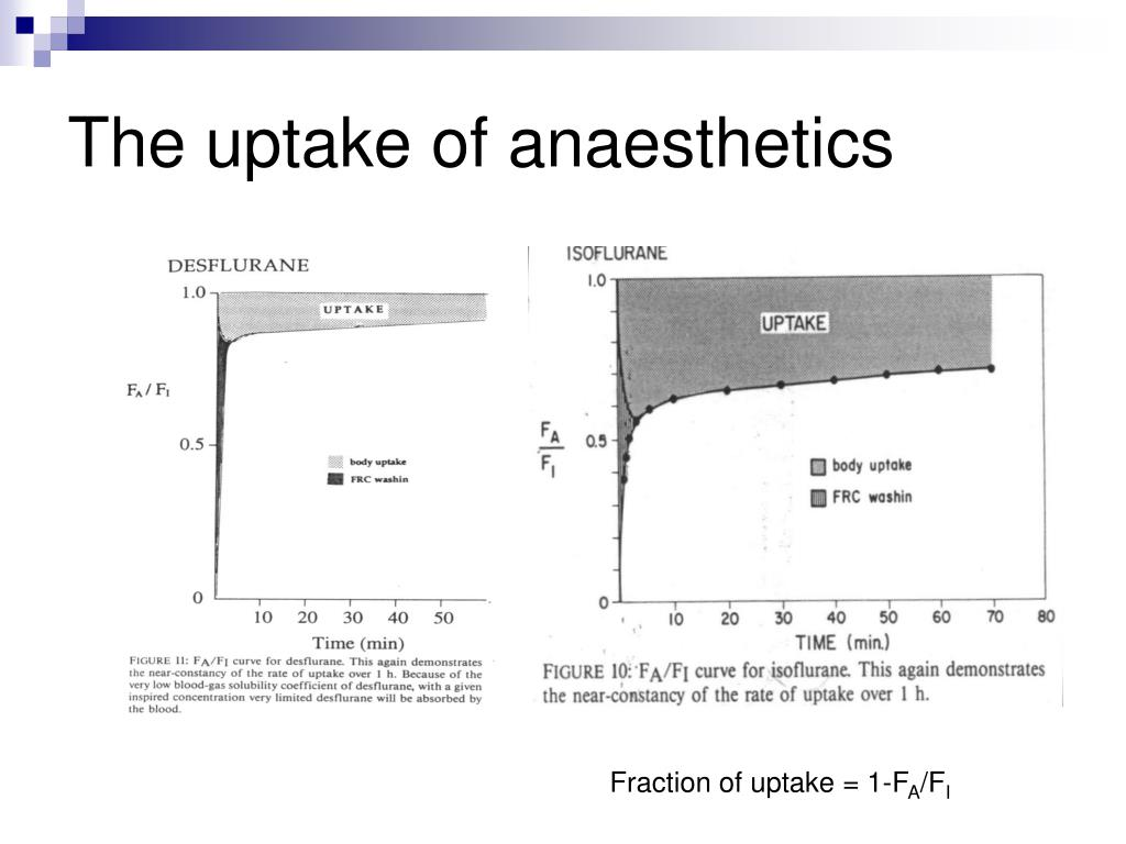 The uptake of anaesthetics