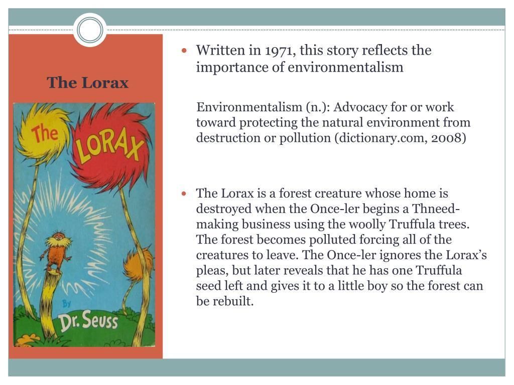 Written in 1971, this story reflects the importance of environmentalism