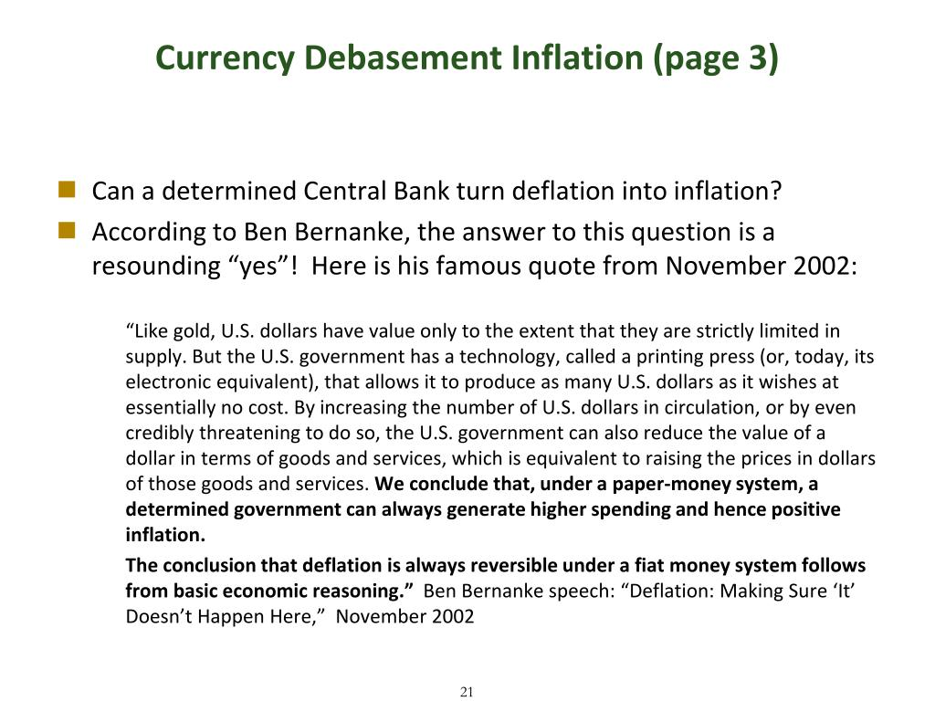 Currency Debasement Inflation (page 3)