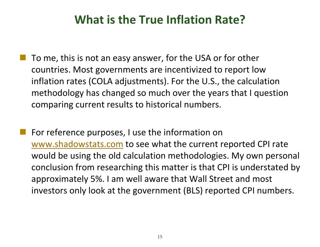 What is the True Inflation Rate?