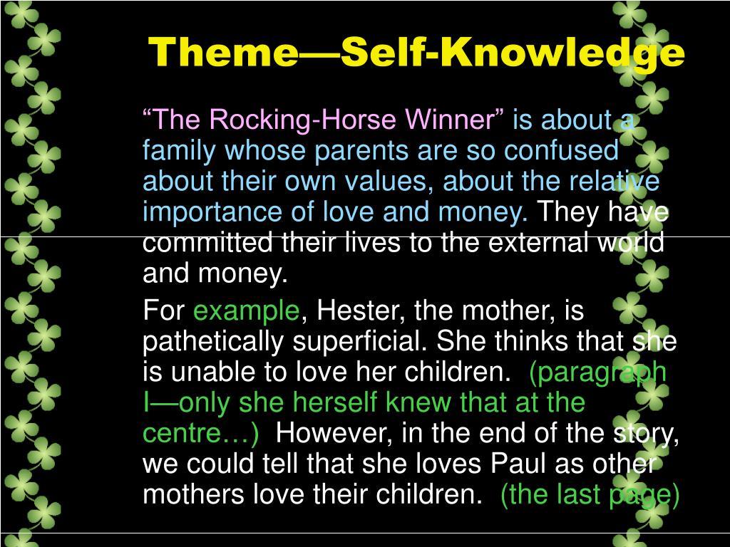 Theme—Self-Knowledge
