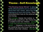 theme self knowledge