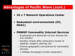 advantages of pacific wave cont