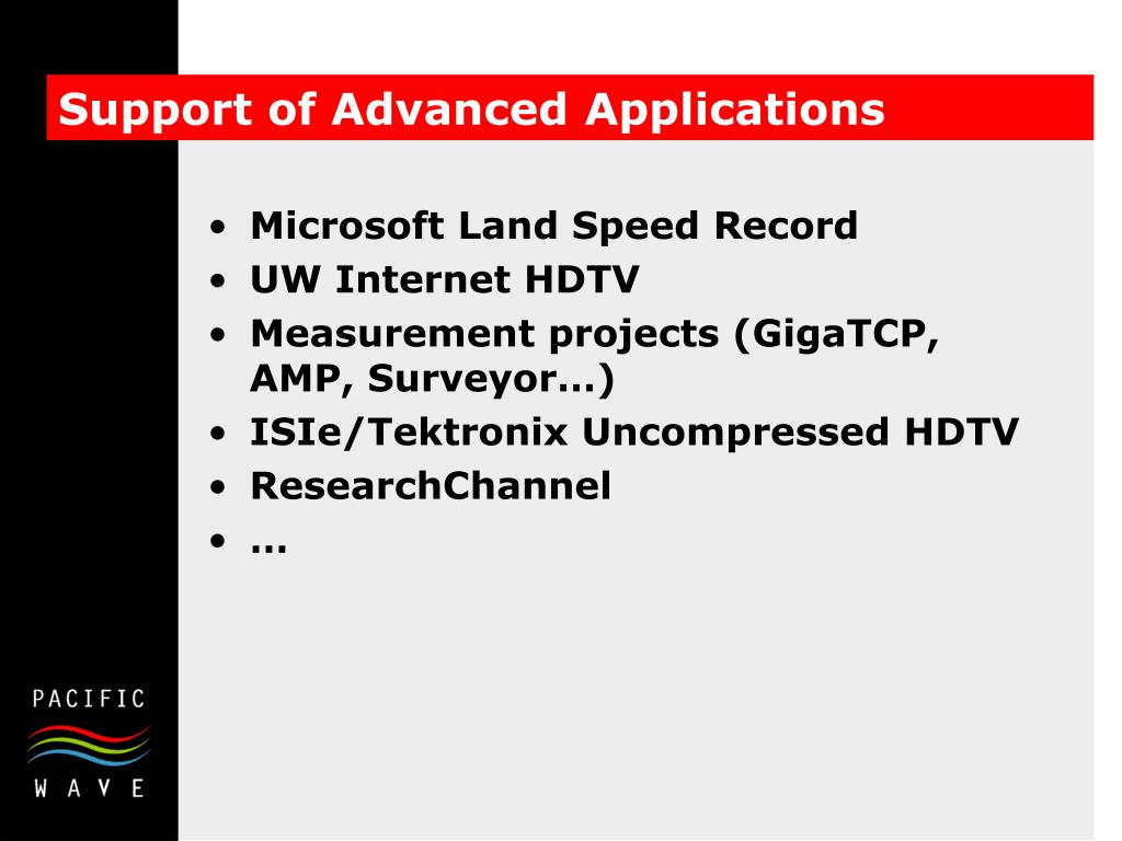 Support of Advanced Applications