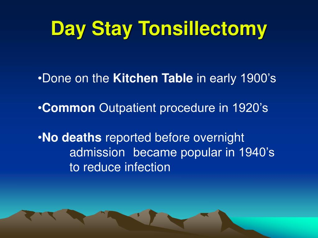 Day Stay Tonsillectomy