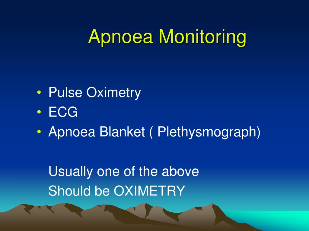 Apnoea Monitoring