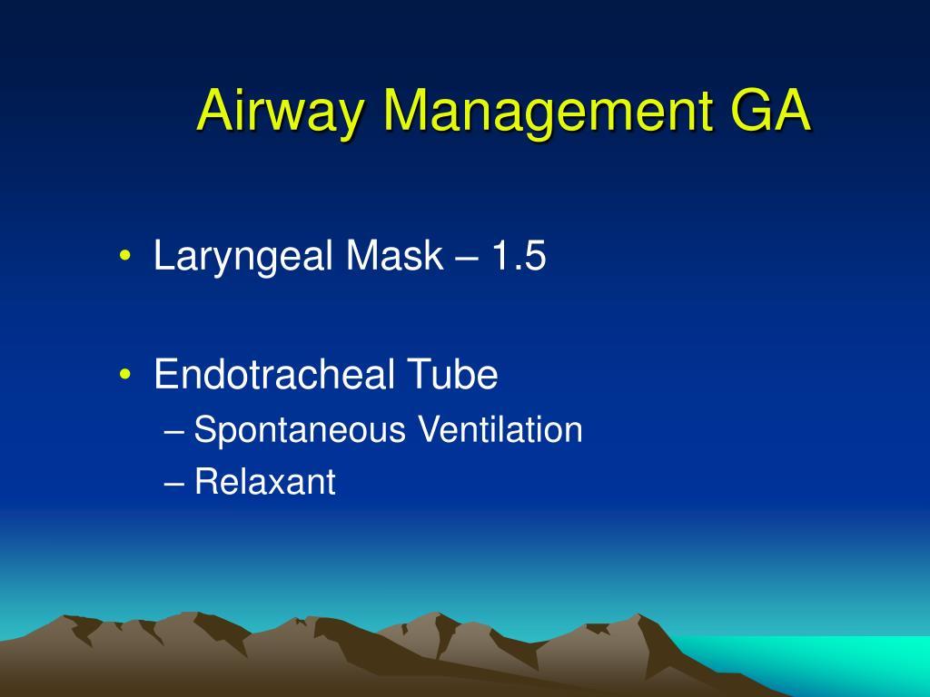 Airway Management GA