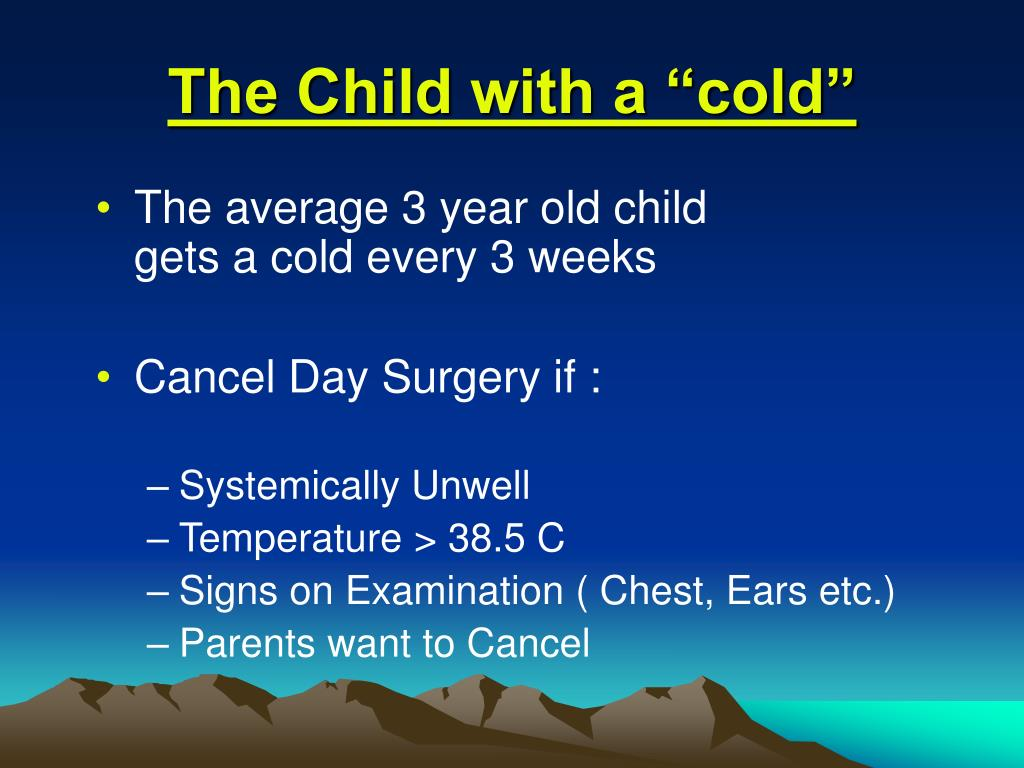 """The Child with a """"cold"""""""