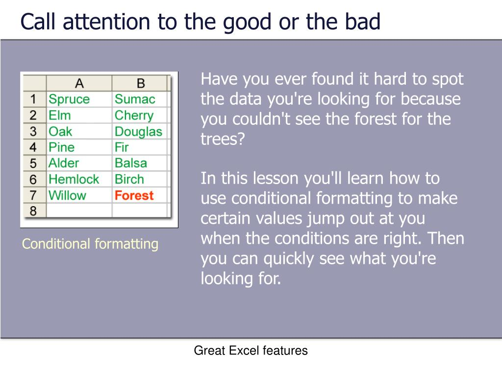 Call attention to the good or the bad