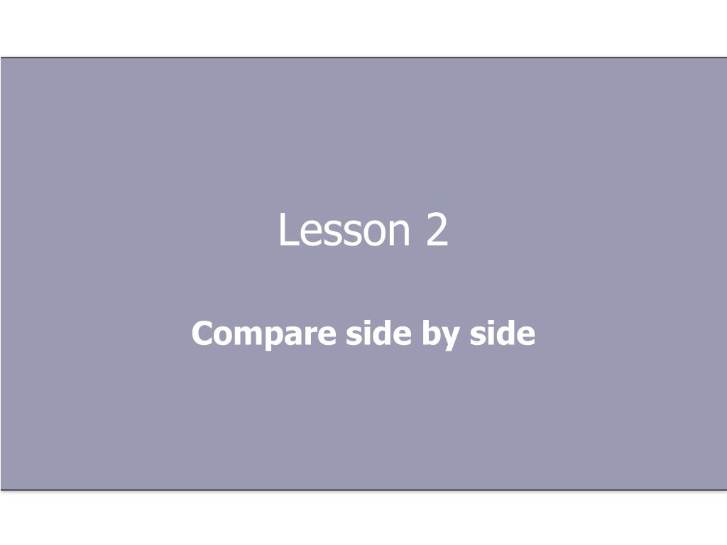 Lesson 2