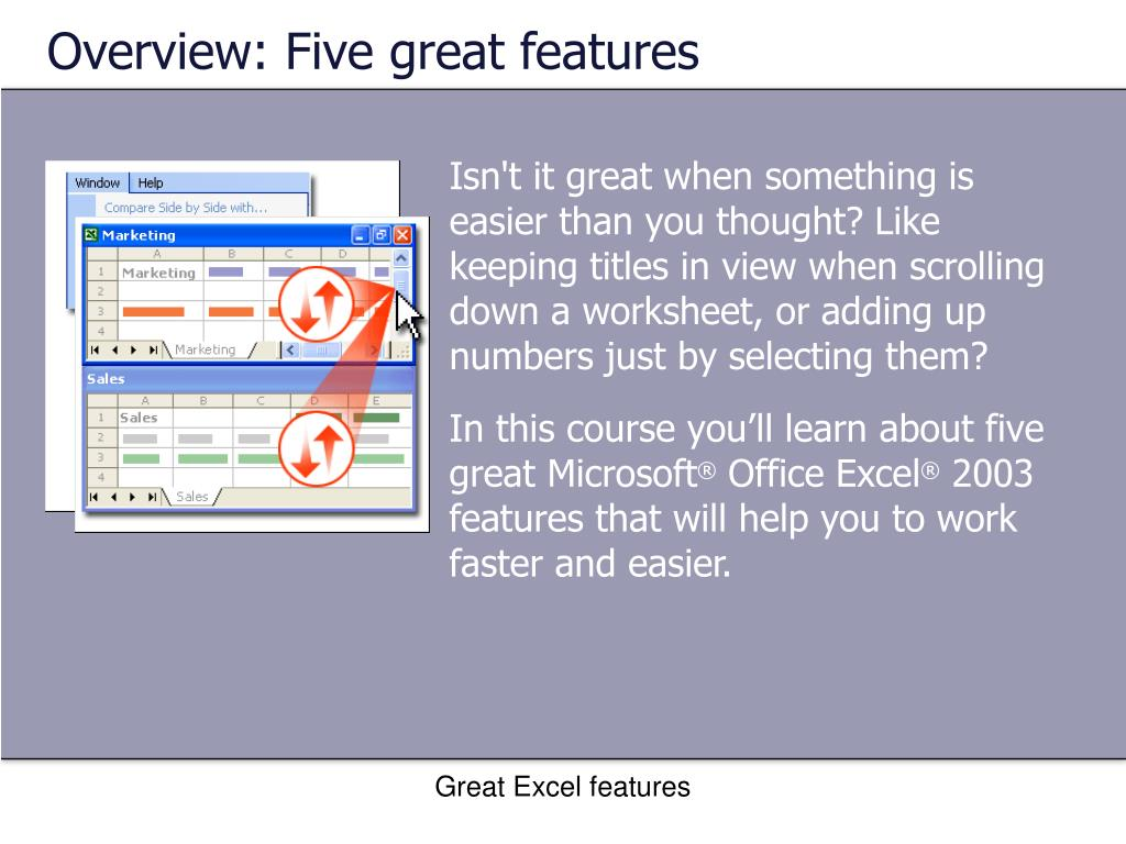 Overview: Five great features